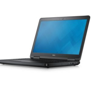Dell Latitude E5540 notebook computer. Left facing hero image for online use.With generic screenfill.